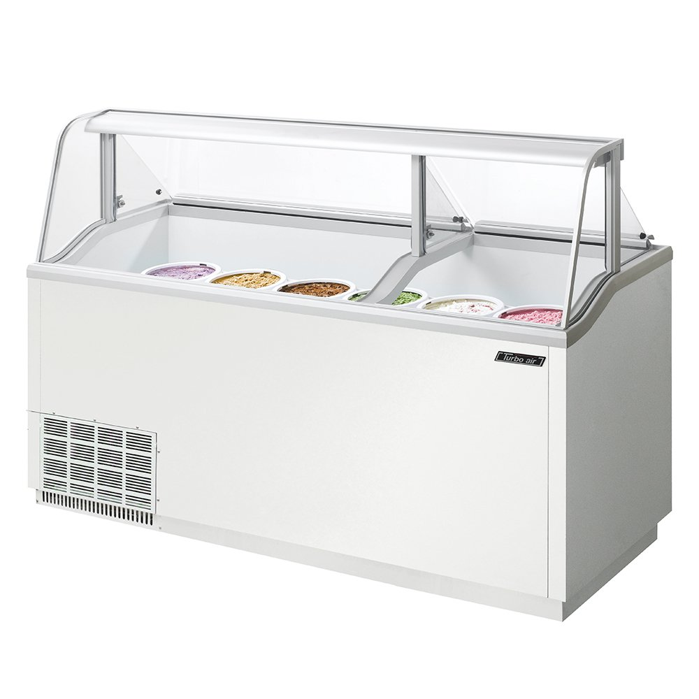 "Turbo Air TIDC70W 70.37"" Stand Alone Ice Cream Freezer w/ 12-Tub Capacity, 115v"