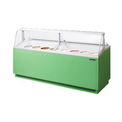 Turbo Air TIDC91G 91.38-in Dipping Cabinet Holds (16) 3-Gallon Cans, Lime Green