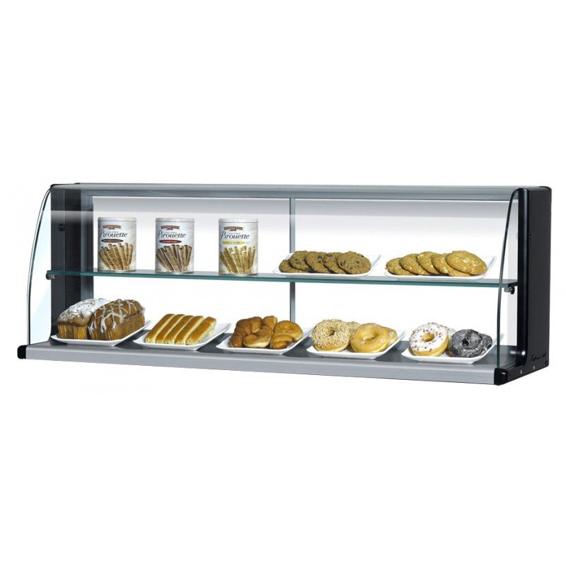 """Turbo Air TOMD-60-HB 63.25"""" High Top Display Dry Case w/ Open Front for TOM-60, Black"""