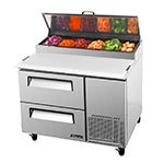 "Turbo Air TPR-44SD-D2 44"" Pizza Prep Table w/ Refrigerated Base, 115v"