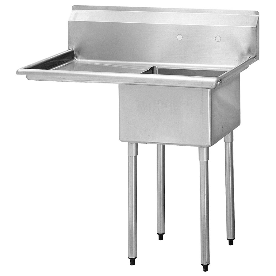 "Turbo Air TSA-1-14-L2 45"" 1-Compartment Sink w/ 18""L x 18""W Bowl, 14"" Deep"