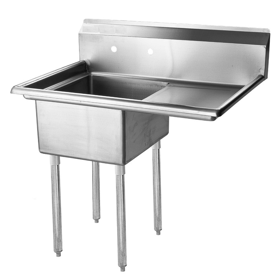 "Turbo Air TSA-1-14-R2 45"" 1-Compartment Sink w/ 18""L x 18""W Bowl, 14"" Deep"