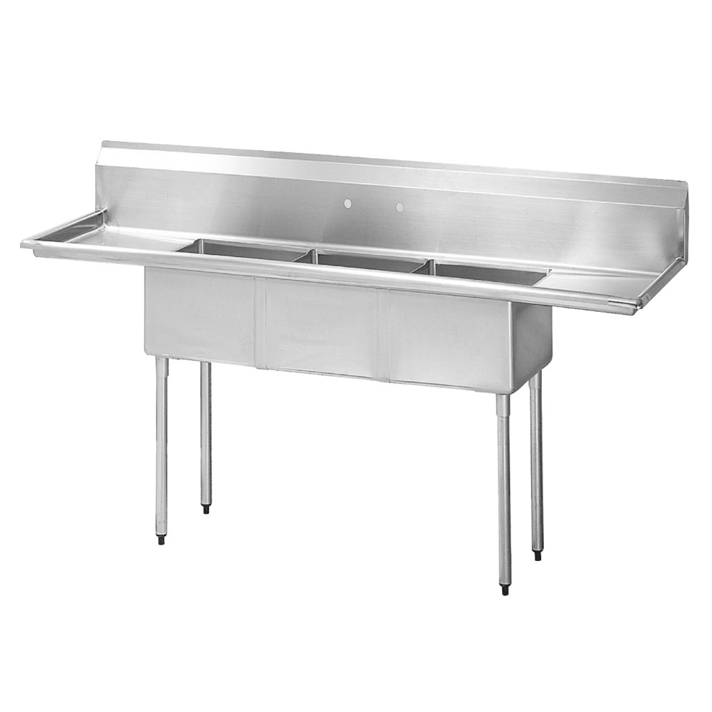 Commercial Sink 3 Compartment : Turbo Air TSA-3-D1 90