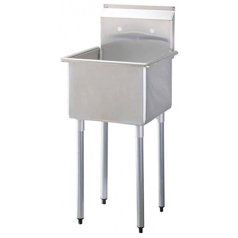 """Turbo Air TSB-1-N 27"""" 1-Compartment Sink w/ 24""""L x 24""""W Bowl, 11"""" Deep"""