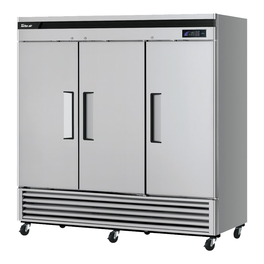 """Turbo Air TSF-72SD-N 81.87"""" Three Section Reach-In Freezer, (3) Solid Doors, 115v"""