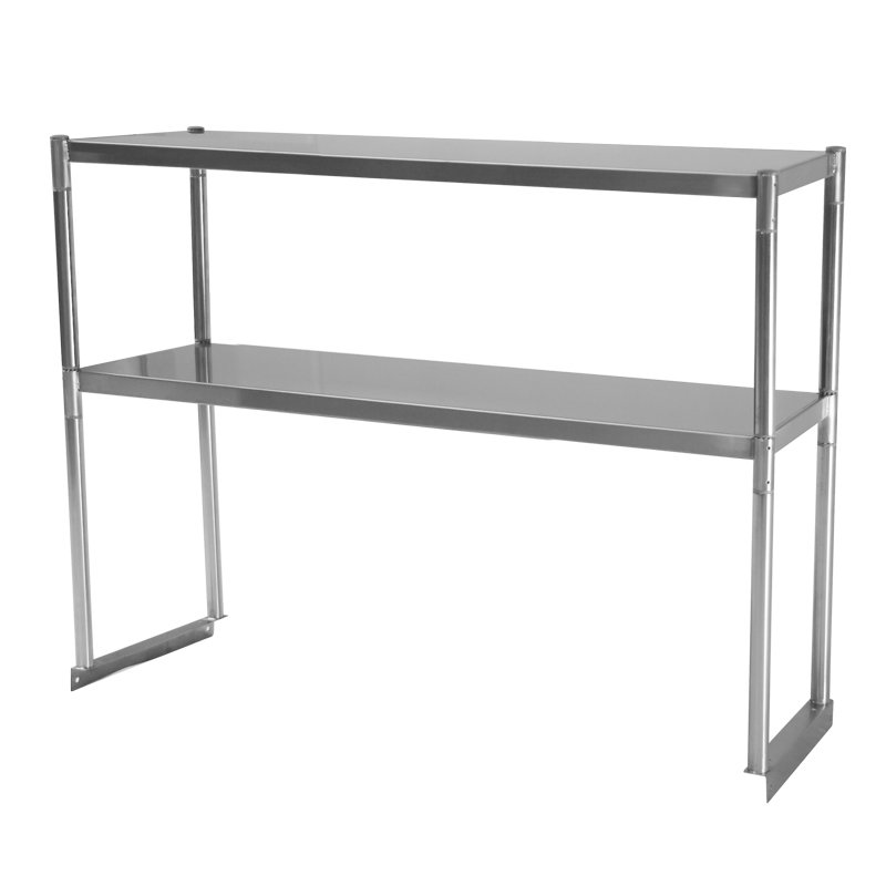 Turbo Air TSOS-4R 4-Ft Stainless Steel Over Shelf For U / C