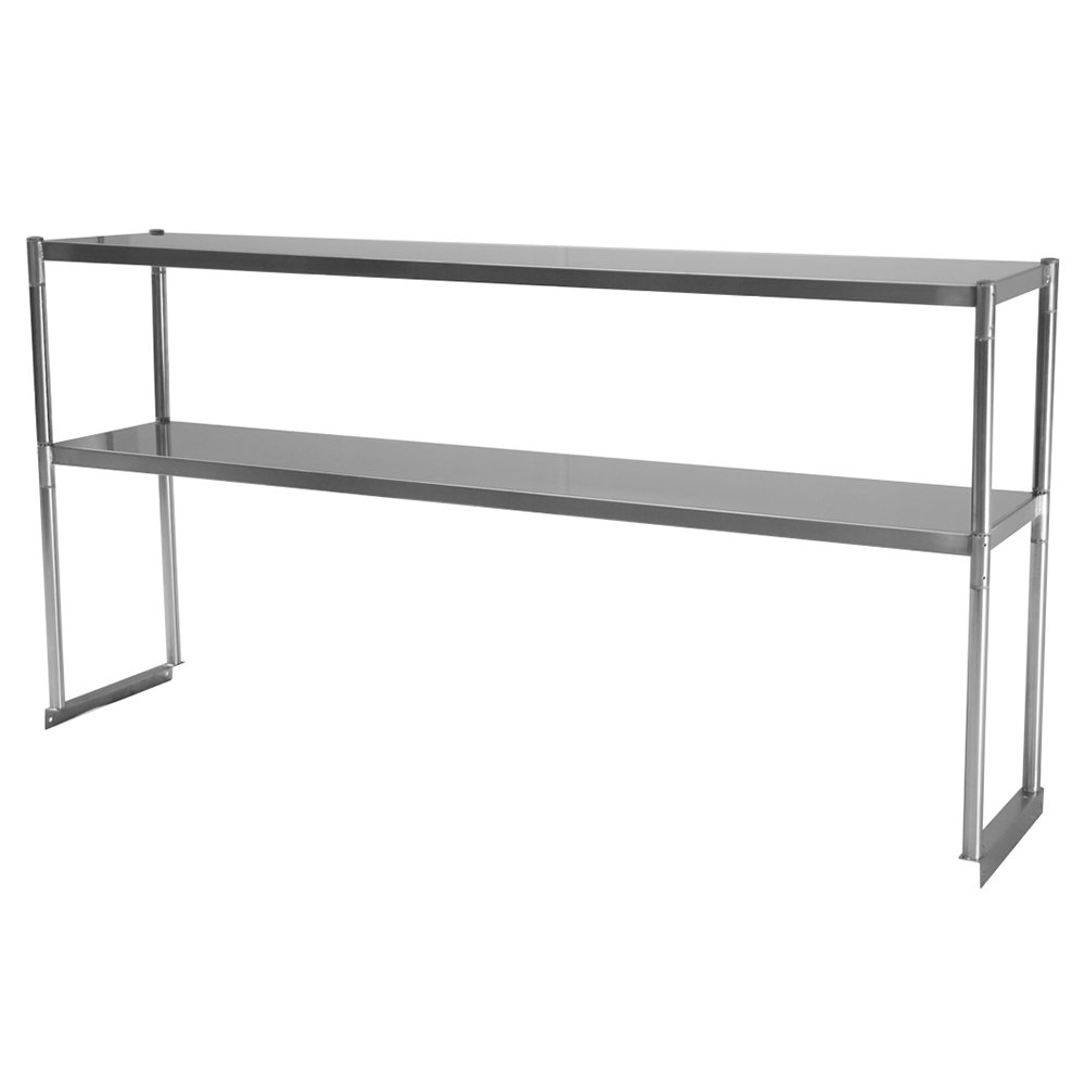 Turbo Air TSOS-5R 5-Ft Stainless Steel Over Shelf For U / C