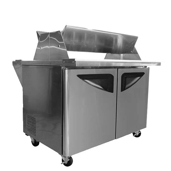 "Turbo Air TST-48SD-18-DS 48.25"" Sandwich/Salad Prep Table w/ Refrigerated Base, 115v"