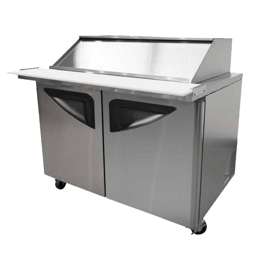 "Turbo Air TST-48SD-18-SL 48.25"" Sandwich/Salad Prep Table w/ Refrigerated Base, 115v"