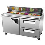 "Turbo Air TST-60SD-D2-N 60"" Sandwich/Salad Prep Table w/ Refrigerated Base, 115v"