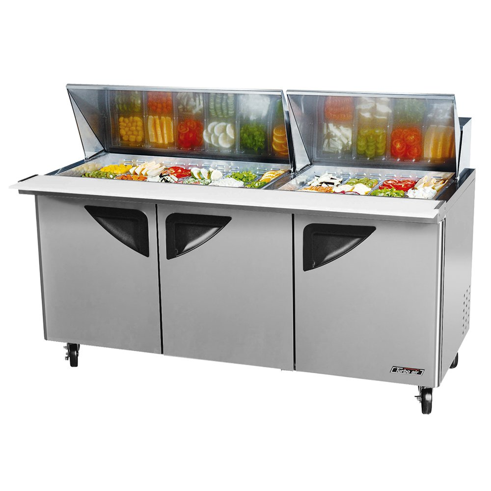"Turbo Air TST-72SD-30 72"" Sandwich/Salad Prep Table w/ Refrigerated Base, 115v"