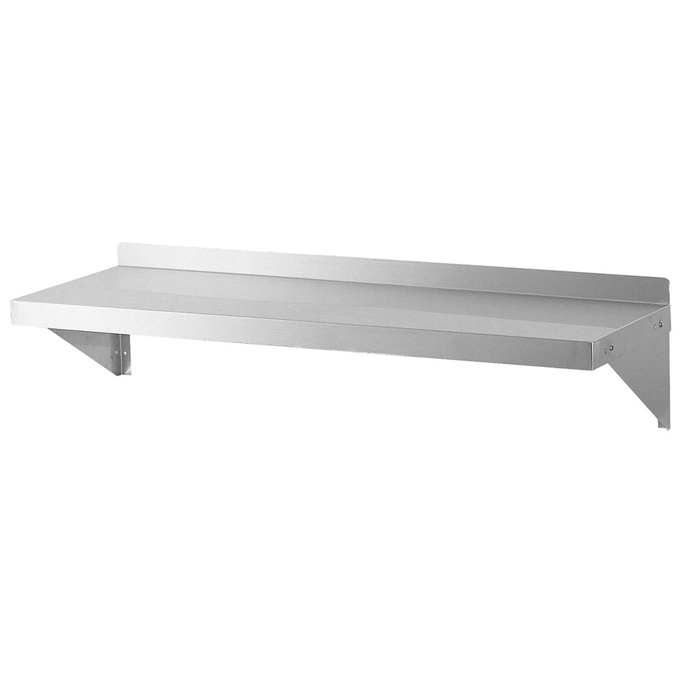 """Turbo Air TSWS-1296 96"""" Wall Mount Shelf, All Stainless, 12"""" W"""