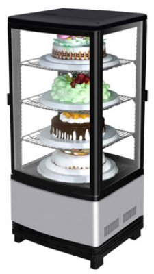 "Turbo Air CRT-77-2R 17"" Countertop Refrigeration w/ Pass Thru Access - Swing Door, Stainless, 115v"