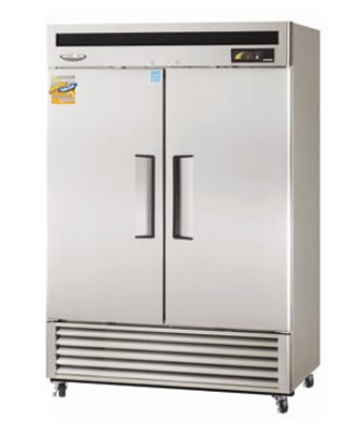 "Turbo Air MSR-49NM 54"" Two Section Reach-In Refrigerator, (2) Solid Door, 115v"