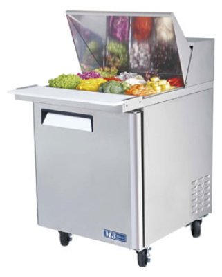 "Turbo Air MST-28-12 27"" Sandwich/Salad Prep Table w/ Refrigerated Base, 115v"