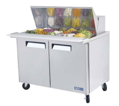 "Turbo Air MST-48-18 48"" Sandwich/Salad Prep Table w/ Refrigerated Base, 115v"