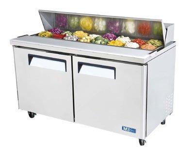 "Turbo Air MST-60 60"" Sandwich/Salad Prep Table w/ Refrigerated Base, 115v"