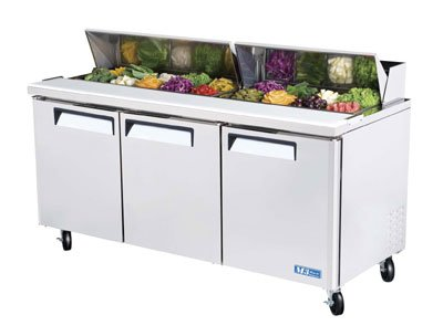 "Turbo Air MST-72 72.62"" Sandwich/Salad Prep Table w/ Refrigerated Base, 115v"