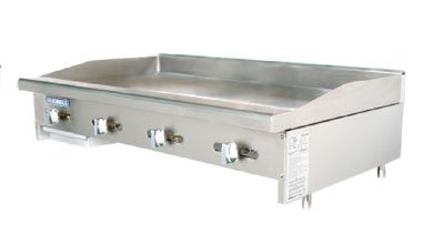 Turbo Air TAMG-48 LP 48-in Griddle w/ 3/4-in Steel Plate, Manual Controls, LP