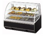 "Turbo Air TB-5R 59"" Full Service Bakery Case w/ Curved Glass - (3) Levels, 115v"