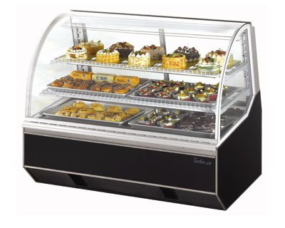 """Turbo Air TB-5R 59"""" Full Service Bakery Case w/ Curved Glass - (3) Levels, 115v"""