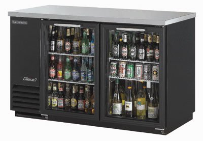 "Turbo Air TBB-2SG 59"" (2) Section Bar Refrigerator - Swinging Glass Doors, 115v"