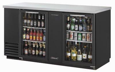 "Turbo Air TBB-3SG 69"" (2) Section Bar Refrigerator - Swinging Glass Doors, 115v"