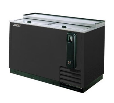 "Turbo Air TBC-50SB 50"" Forced Air 432-Capacity Bottle Cooler - Stainless Interior, 115v"