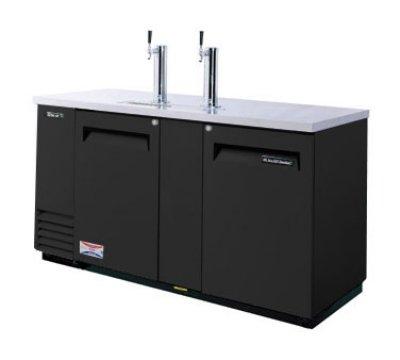 TBD-3SB 69-in Beer Dispenser w/ (3) 1/2-Barrel Capacity Black Restaurant Supply