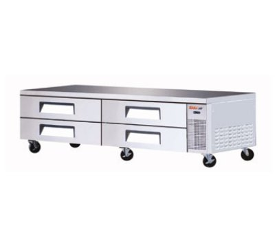 "Turbo Air TCBE-96SDR 96"" Chef Base w/ (4) Drawers - 115v"