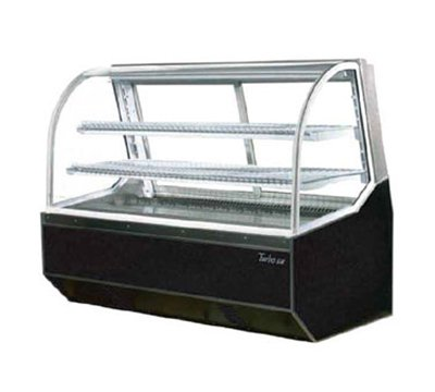 "Turbo Air TD-5R 59"" Full Service Deli Case w/ Curved Glass - (3) Levels, 115v"
