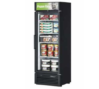 "Turbo Air TGF-15SD 26.37"" One-Section Display Freezer w/ Swinging Door - Bottom Mount Compressor, 115v"