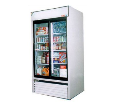 "Turbo Air TGM-35R 42"" Two-Section Glass Door Merchandiser w/ Sliding Doors, 115v"