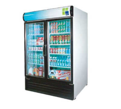 "Turbo Air TGM-50RS 55.88"" Two-Section Refrigerated Display w/ Swing Doors, Bottom Mount Compressor, 115v"