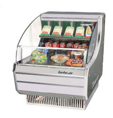 TOM-30L 28-in Horizontal Open Display Merchandiser Low Profile White Restaurant Supply