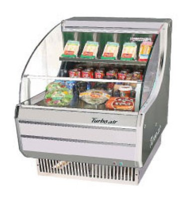 "Turbo Air TOM-30S 28"" Horizontal Open Air Cooler w/ (3) Levels, 115v"