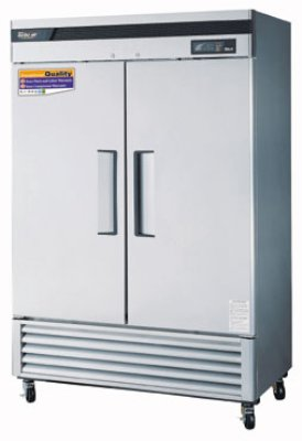 "Turbo Air TSF-49SD 54.37"" Two Section Reach-In Freezer, (2) Solid Doors, 115v"