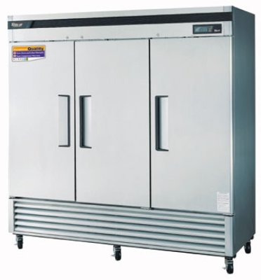 "Turbo Air TSF-72SD 81.88"" Three Section Reach-In Freezer, (3) Solid Doors, 115v"