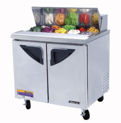 "Turbo Air TST-36SD 36"" Sandwich/Salad Prep Table w/ Refrigerated Base, 115v"