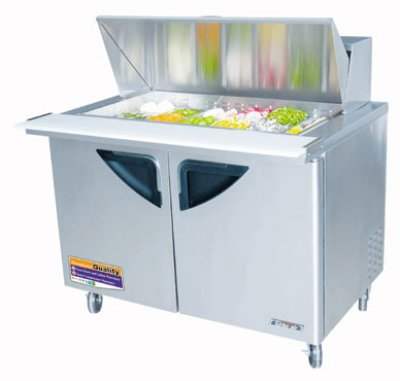 "Turbo Air TST-48SD-18 48"" Sandwich/Salad Prep Table w/ Refrigerated Base, 115v"