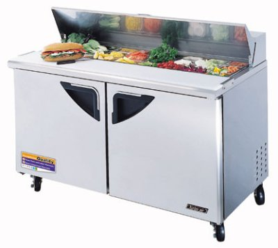 "Turbo Air TST-60SD 60"" Sandwich/Salad Prep Table w/ Refrigerated Base, 115v"