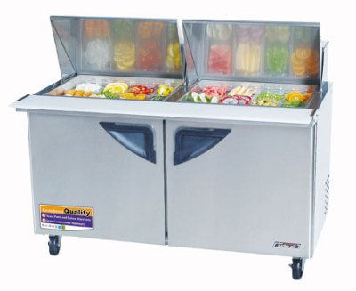 "Turbo Air TST-60SD-24 60"" Sandwich/Salad Prep Table w/ Refrigerated Base, 115v"