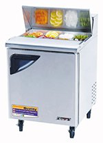 "Turbo Air TST-28SD 27"" Sandwich/Salad Prep Table w/ Refrigerated Base, 115v"