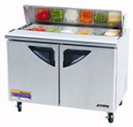 "Turbo Air TST-48SD 48"" Sandwich/Salad Prep Table w/ Refrigerated Base, 115v"