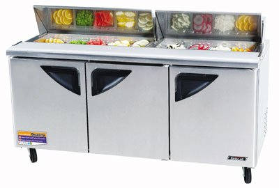 "Turbo Air TST-72SD 72"" Sandwich/Salad Prep Table w/ Refrigerated Base, 115v"
