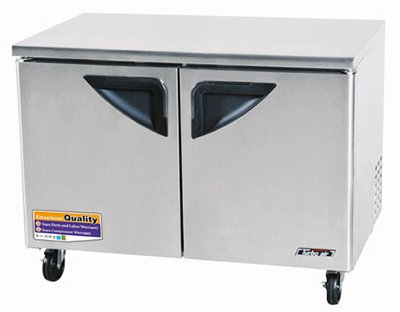 Turbo Air TUF-48SD 12-cu ft Undercounter Freezer w/ (2) Sections & (2) Doors, 115v