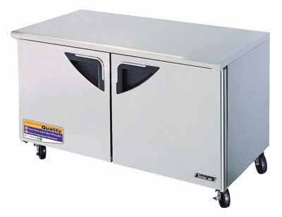 Turbo Air TUF-60SD 16-cu ft Undercounter Freezer w/ (2) Sections & (2) Doors, 115v