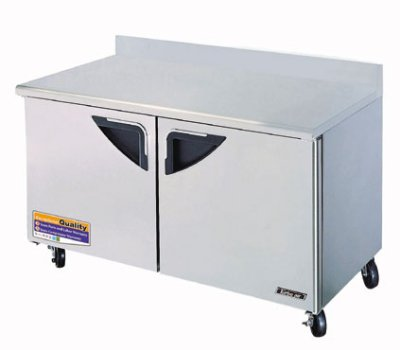 Turbo Air TWF-60SD 16-cu ft Undercounter Freezer w/ (2) Sections & (2) Doors, 115v