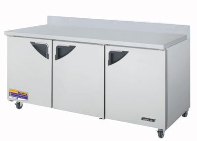 "Turbo Air TWR-72SD 72.62"" Work Top Refrigerator w/ (3) Sections, 115v"