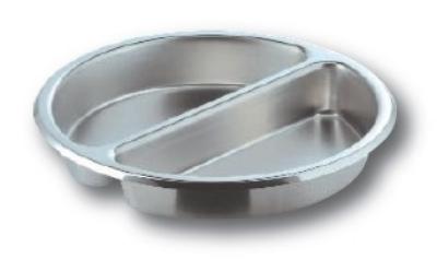 Cook-Tek RDSSI02 6.5-Liter Large Round Insert, Split Pan, Stainless